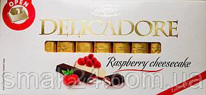 Шоколад молочный DELIKADOR  Raspberry cheesecake малиновый чизкейк Baron Польша 200г