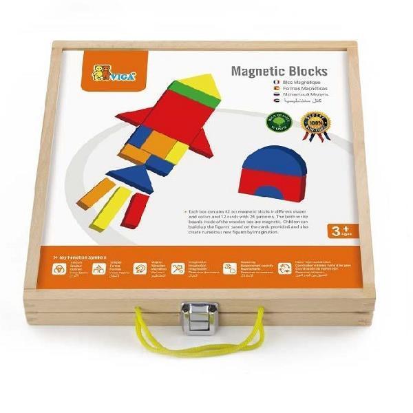 Набір магнітних блоків Viga Toys Форми і кольору (59687)