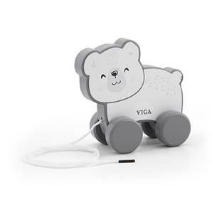 Каталка Viga Toys PolarB Білий ведмідь (44001)