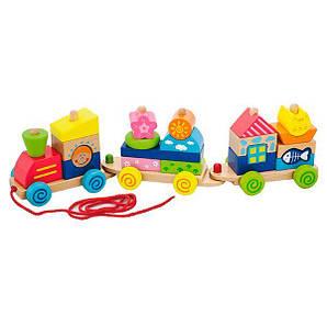 "Іграшка-каталка Viga Toys ""Паровозик"" (50089)"