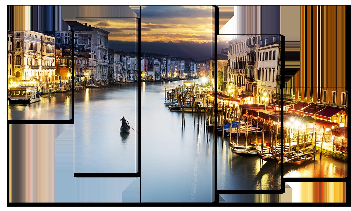 Модульная картина Interno Холст Гранд канал, Венеция  123х69см (R4528M)