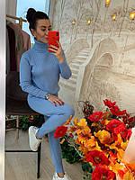 Теплый костюм женский, стильный, голубой, 211-0831