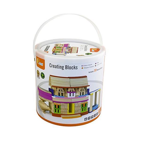 Дерев'яні будівельні кубики Viga Toys Архітектурні блоки, 250 шт. (50956)
