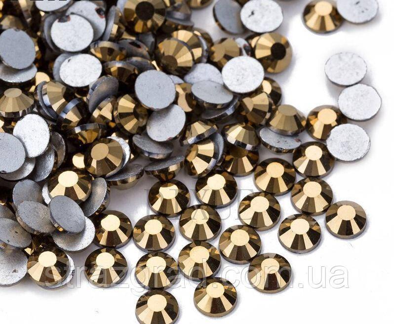 Клейові стрази (на клей) Premium Gold Hematite SS3 Non-hot Fix 1440 шт. Стрази холодної фіксації
