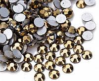 Стразы клеевые (на клей) Premium Gold Hematite SS3 Non-hot Fix 1440 шт. Стразы холодной фиксации
