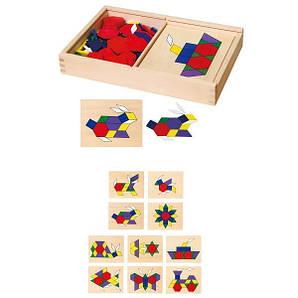 Навчальний набір Viga Toys Мозаїка з шаблонами (50029)
