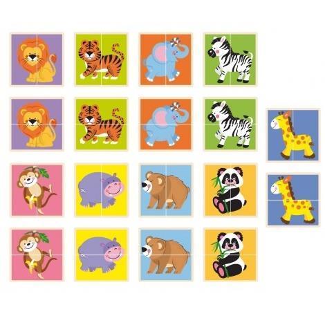 "Пазл Viga Toys ""Дикі тварини"" (50842)"
