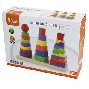 Набір дерев'яних пірамідок Viga Toys Три фігури (50567)