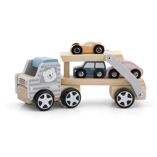 Дерев'яна іграшкова машинка Viga Toys PolarB Автовоз (44014)