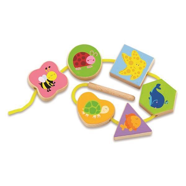 """Шнурівка Viga Toys """"У світі тварин"""" (50156VG)"""