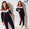 Молодежный теплый спортивный костюм с начесом: штаны и кофта на змейке с капюшоном, фото 2
