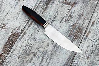 "Кухонный нож ручной работы ""Айронвуд"", М390 (263мм), фото 2"