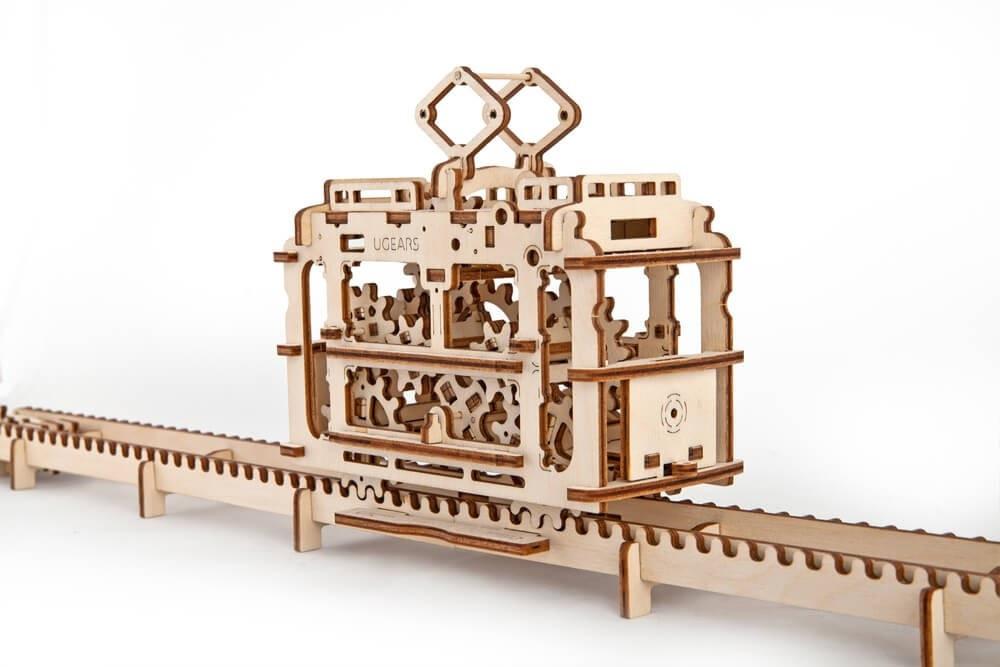 Трамвайчик | UGEARS | Механический 3D конструктор из дерева