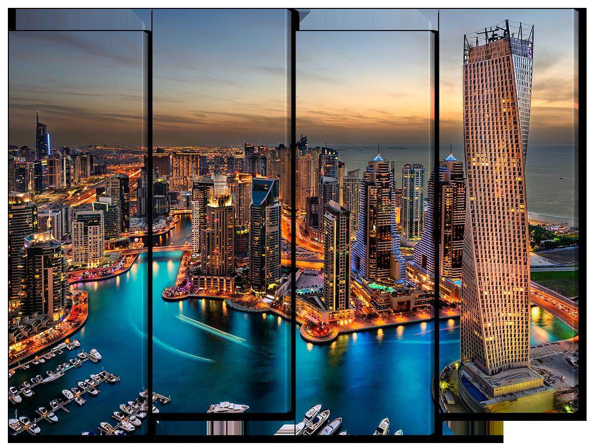 Модульная картина Interno Холст Дубай, Эмираты 124х94см (R4531L)