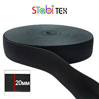 Резинка швейная 20мм (40м/боб) Черный, фото 1