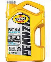 Масло моторное Pennzoil Platinum 0W-20 Full 4,73л Synthetic Motor Oil (made from NATURAL GAS), фото 1