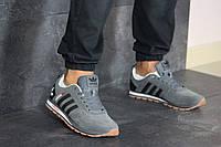 Мужские кроссовки Adidas, замша, пена, серые.
