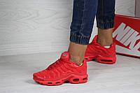 Женские кроссовки Nike Air Max Tn, текстиль, кожа, пена, красные.