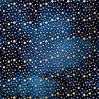 """Лист односторонней бумаги с фольгированием """"golden stars night garden"""" Фабрика Декора"""