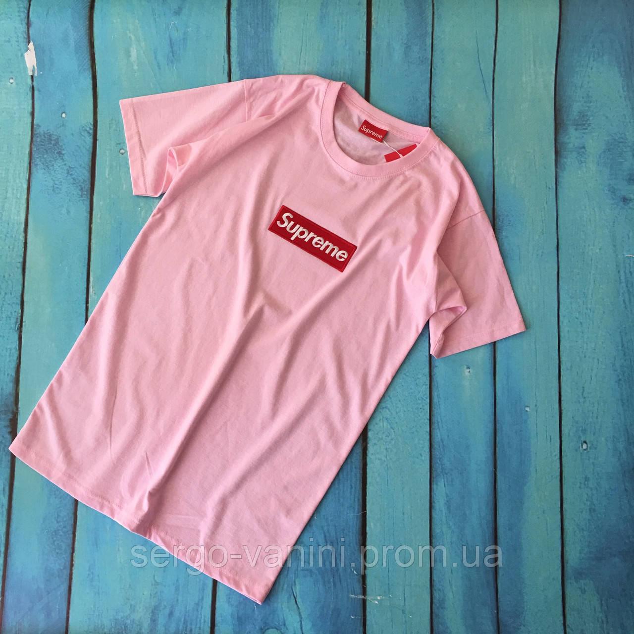 Футболочка Supreme Pink (реплика)