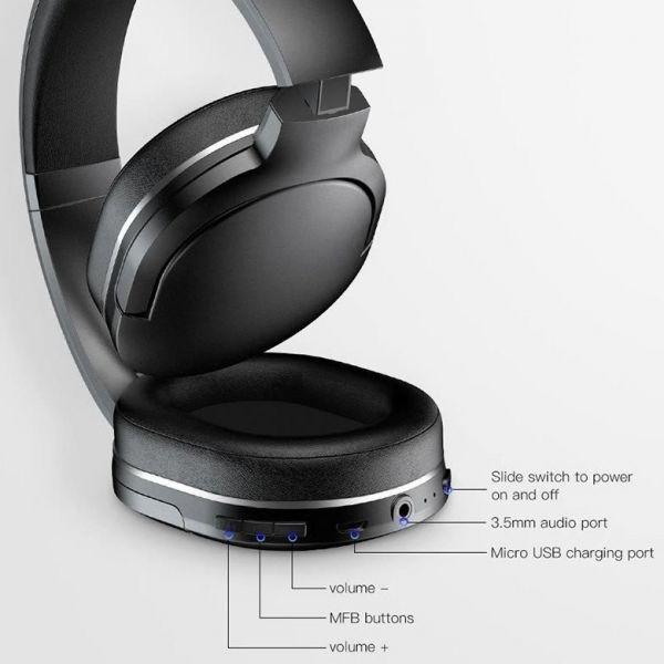 Беспроводные Bluetooth наушники Baseus Encok D02 Wireless Headphone NGD02-01 Черные