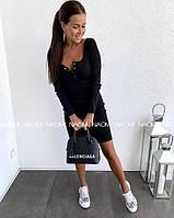 Женское платье, черное, 42-44, 44-46 р-р.