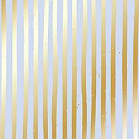 """Лист односторонней бумаги с фольгированием """"golden stripes purple"""" Фабрика Декора"""