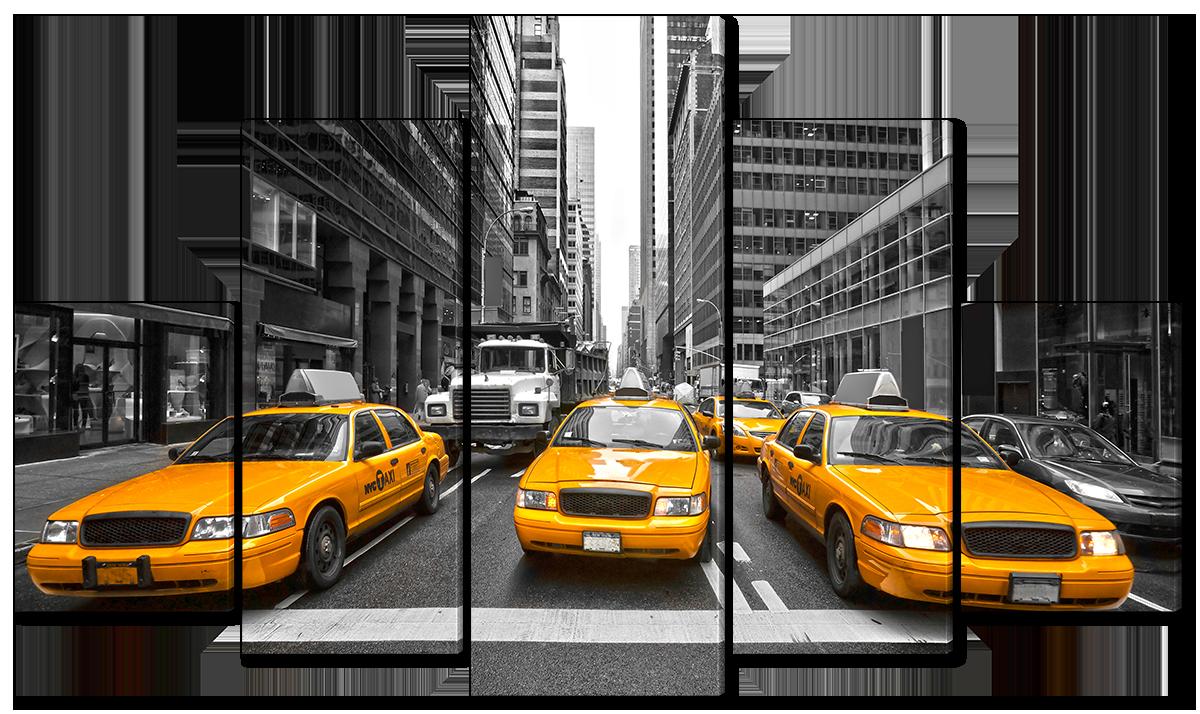 Модульная картина Interno Эко кожа Такси Нью Йорка 158х90см (A4534XL)