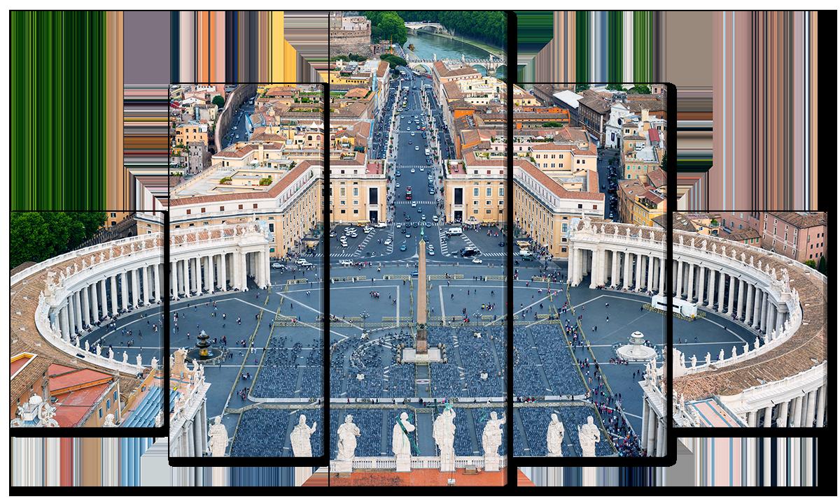 Модульная картина Interno Холст Собор в Ватикане 123х69см (R4539M)
