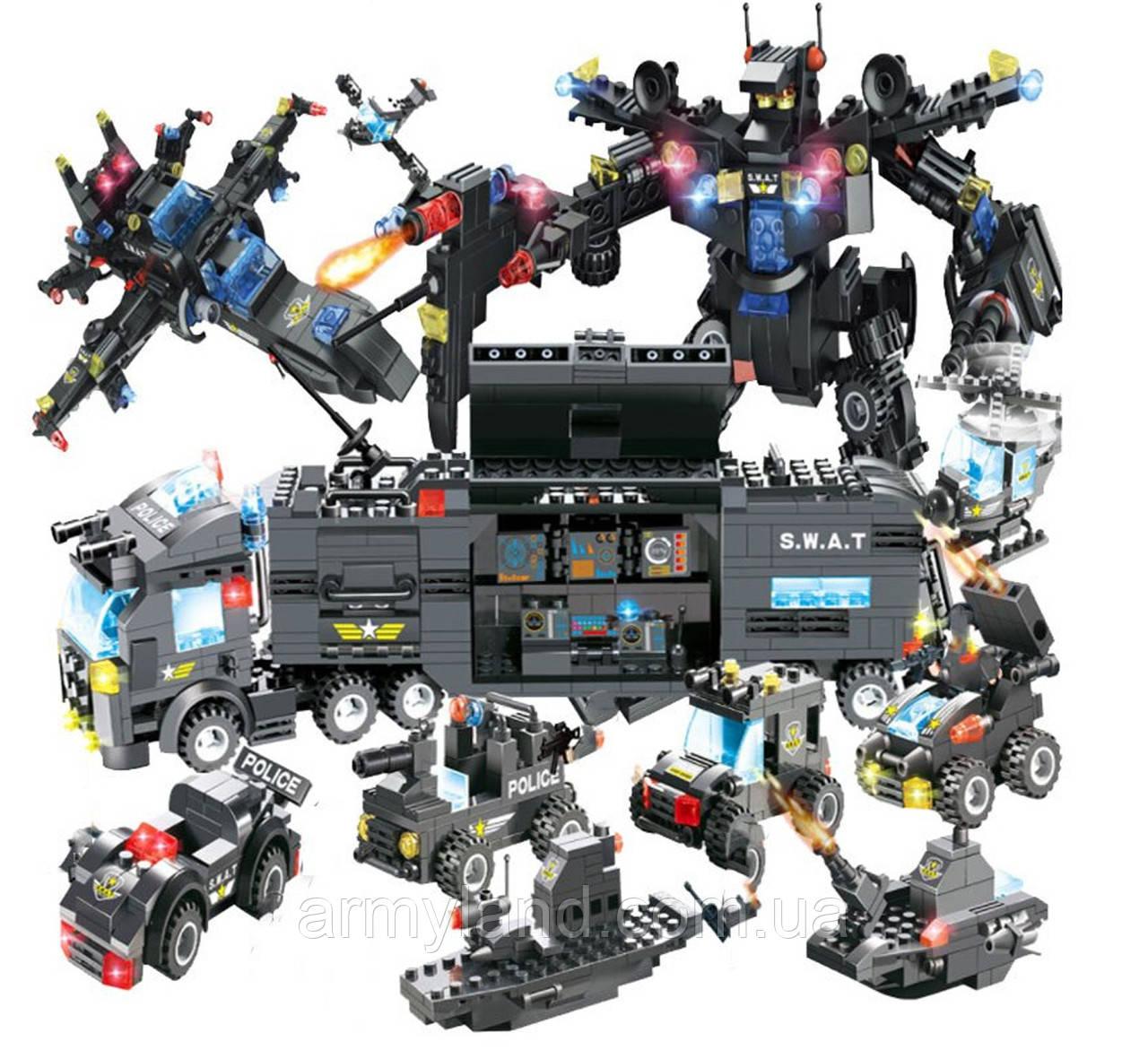 Полиция Сват грузовик трансформер (11в1) конструктор Аналог Лего
