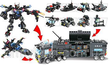 Полиция Сват грузовик трансформер (11в1) конструктор Аналог Лего, фото 2