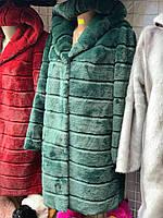 Шуба женская с капюшоном рр С. М. Л. ХЛ цвета в ассортименте