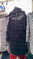 Шуба женская с капюшоном БАТАЛ 50-56 рр цвета белый .черный