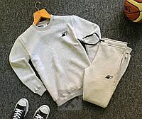 Мужской утепленный спортивный костюм New Balance, серый