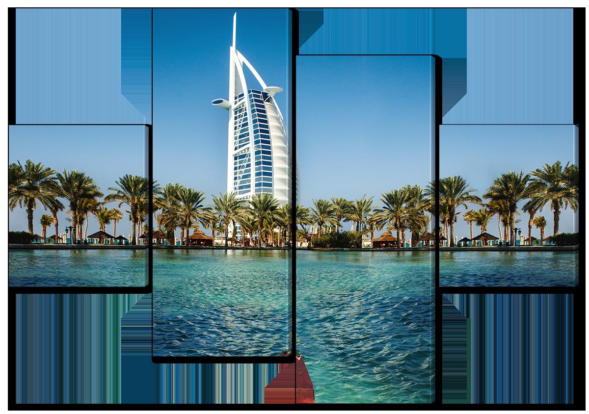 Модульная картина Interno Холст Отель Дубай 126х85см (R4540М)