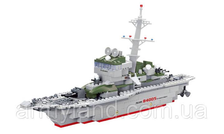 Корабль Армейский Военный фрегат конструктор Аналог Лего, фото 2