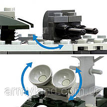 Корабль Армейский Военный фрегат конструктор Аналог Лего, фото 3