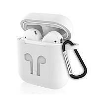 Силиконовый противоударный чехол - Airpods Apple. Белый