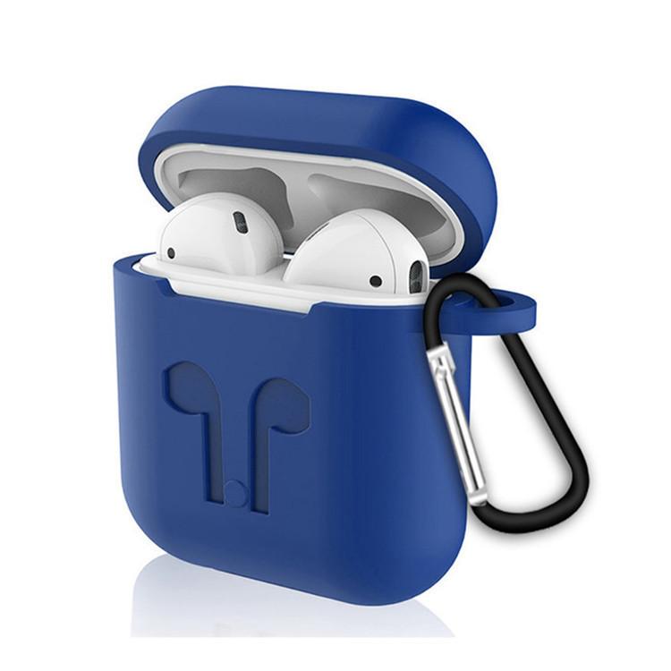 Силиконовый противоударный чехол - Airpods Apple. Темно синий