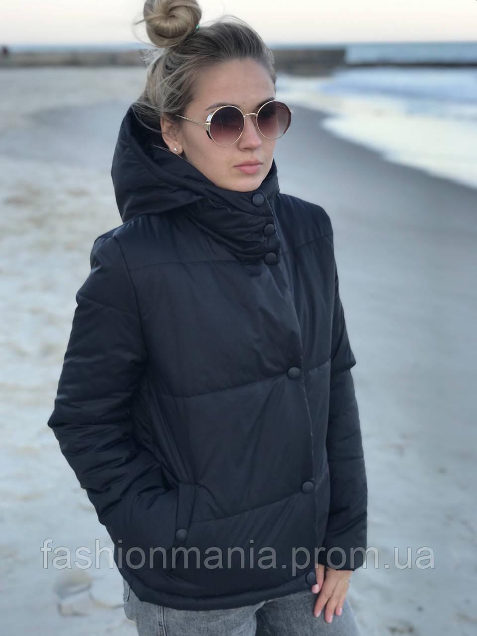 Курточка женская с капюшоном теплая