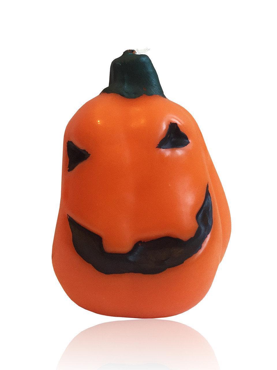 Свеча тыква малая овальная на хеллоуин