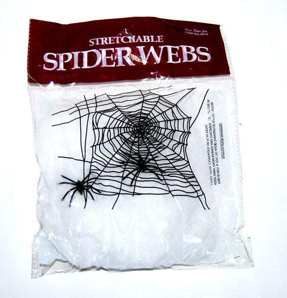 Паутина декоративная белая на Хэллоуин