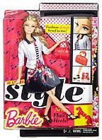 Барби Стиль пушистыми ресницами Barbie Style  White Jacket & Black Floral Print Skirt