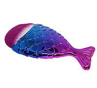 Кисть для макияжа Рыбка (синтетический ворс)