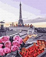 """Картина  по номерам Brushme """"Романтика в Париже"""" GX23710"""