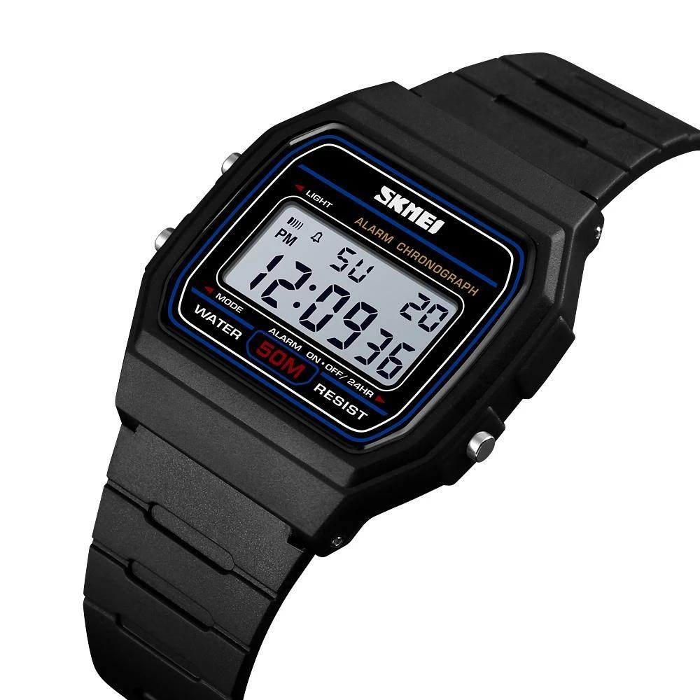 SKMEI 1412 черный спортивные часы