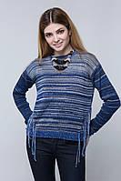 SEWEL Джемпер JS429 (46-48, ультрамарин, светло-серый, темно-синий, 50% хлопок/ 50% акрил)