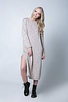 SEWEL Платье PW404 (46-48, бежевый, 60% акрил/ 30% шерсть/ 10% эластан)