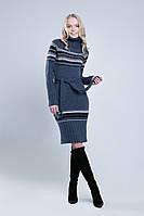 SEWEL Платье PW129 (44-46-48, темно-серый, бежевый, черный, 60% акрил/ 30% шерсть/ 10% эластан)