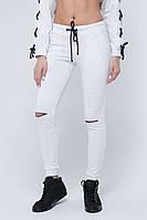 SEWEL Лосины LS639 (46, белый , черный, 100% хлопок)